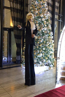WinterWorks Entertainment - Venetian Masquerade - Stilt Walkers - mix and mingle - hospitality - events - liverpool