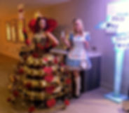 WinterWorks Entertainment - Alice In Wonderland - Queen of Hearts Champagne Dress - Alice - Hospitality - Events