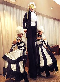 WinterWorks Entertainment - Venetian Masquerade - Stilt Walkers - Hostess - Entertainment - hospitality - Events