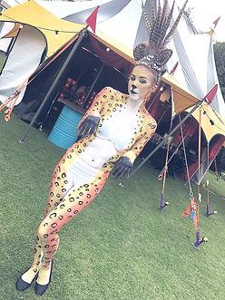 WinterWorks Entertainment - Body Paint - Animal - Cheetah - Hospitality - Events