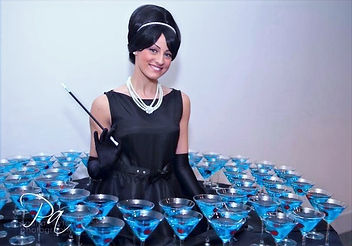WinterWorks Entertainment - Hollywood Oscars Theme - Living Table - Audrey Hepburn Lookalike - Hospitality - Giveaways - Interactive Entertainment - Liverpool