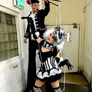 WinterWorks Entertainment, Puppet Master, Stilt Walker, Mine Doll, Scary Puppet, Halloween events, Halloween Theme, Interactive entertainment, Liverpool,