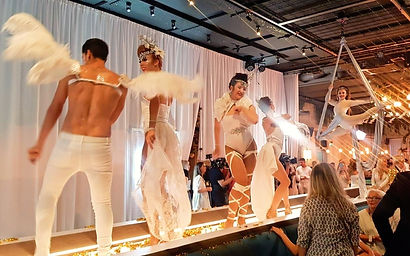 WinterWorks Entertainment - White Party Entertainment - Dancers - aerial - Aerialist - Silks - event entertainment