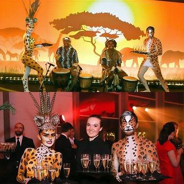 WinterWorks Entertainment - Body Painted Animals - Safari Theme - Animal theme - Hospitality - Meet & Greet - Events