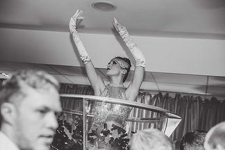 WinterWorks Entertainment - Studio 54 Entertainment - 70s Disco Entertainment - Giant Martini Glass Performers - event entertainment