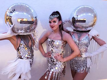 WinterWorks Entertainment - Mirror Heads - Mirror Hospitality - Discoball heads - Sophie Kasaei Birthday Party