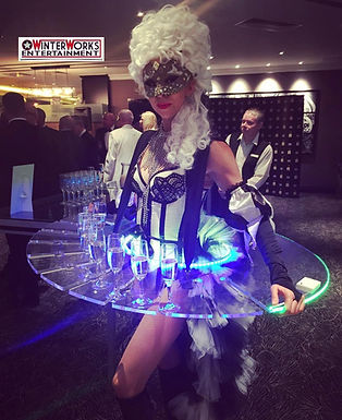 WinterWorks Entertainment - Venetain Masquerade - LED canapé trays - Giveaways - hospitality - liverpool - manchester - events - entertainment