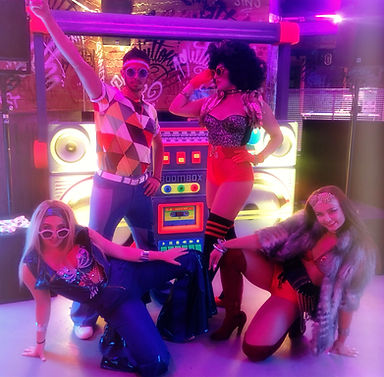 """WinterWorks Entertainment present """"La Freak"""" 70s show. With live singers and dancers we recreate the perfect 70's themed porduction show. Based in Liverpool but travels worldwide."""
