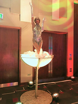 WinterWorks Entertainment - Giant Martini Glass - Showgirl dancer - Events