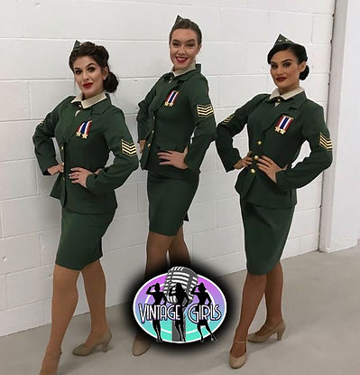 """WinterWorks Entertainment presents """"Vintage Girls"""" A three part harmony vocal trio paying tribute to the Andrew Sisters. Book now for your next event"""