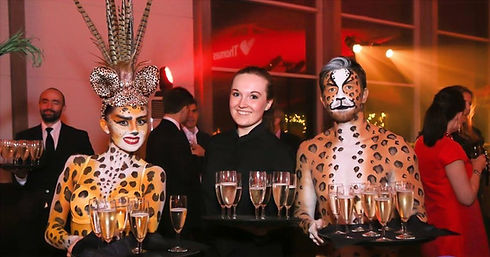 WinterWorks Entertainment - Body Paint - Animals theme - Hospitality - Drinks service - Meet and greet