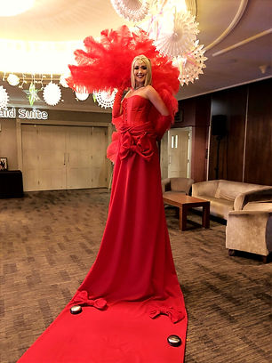 WinterWorks Entertainment - Red Carpet Lady - Grand Entrance - Events - Hospitality