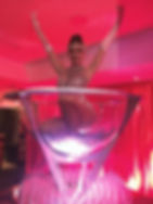 WinterWorks Entertainment - Moulin Rouge - Giant Martini Glass Burlesque - Showgirl burlesque - Moulin Rouge Entertainment