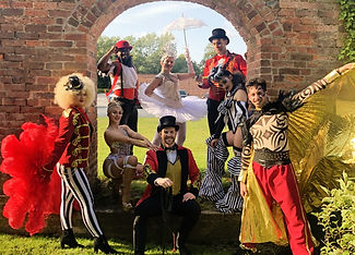 WinterWorks Entertainment - Circus - Circus theme - Greatest Show tribute - Production show - Circus Show - Dancers - Singers - Ringmaster - Tattoo Man - Ballerina - Stilt Walkers - Acrobats - Fire performers - event entertainment