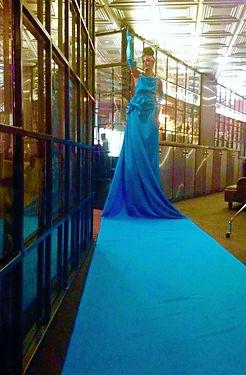 WinterWorks Entertainment - Blue Carpet Lady - Grand Entrance - Hospitality - Events
