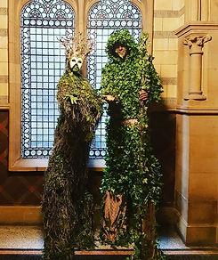 WinterWorks Entertainment - Spring Garden theme - Living trees - stilt walkers - event entertainment - liverpool - events