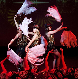 """WinterWorks Entertainment present """"Gatsby Party"""" a show capturing the era of 1920s. Flapper girls, lounge singers & underground club owners bring this full production show to life. Perfect entertainment for your next Gatsby, 1920s themed event."""