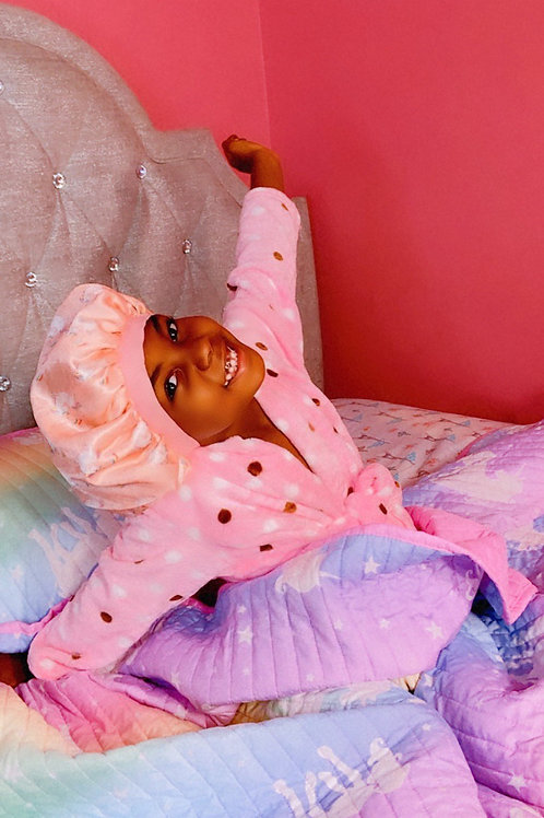Kids silk bonnet