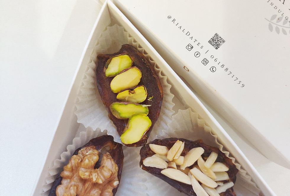 Triangle Stuffed Nuts Dates