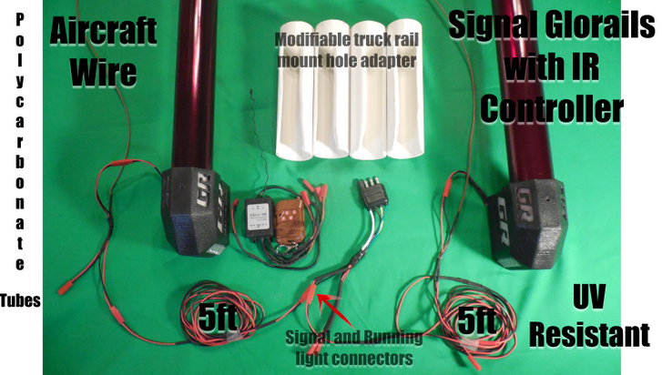 Red signal Glorails with IR Controller
