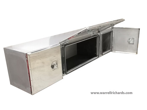W2000xD500xH500 Stainless, Mirrored lid truck tool box, MAN TGS / Renault