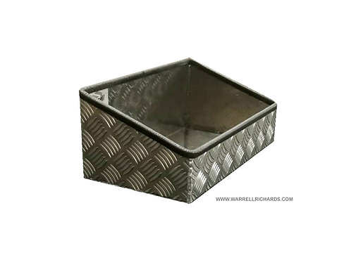 W400xD300xH180/100 chequerplate catwalk tray, Adblue tank container / holder