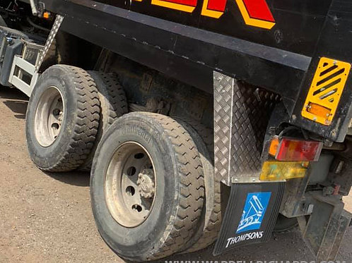Chequer Plate Mud Guards 4Set - DAF CF Thompson Grab & Tipper Truck -Custom made