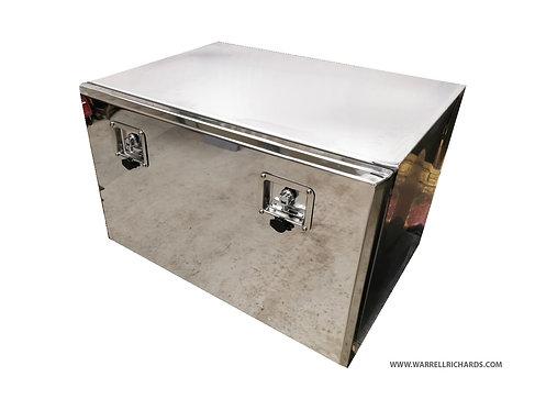 W800xD500XH500 Matt Stainless,Mirrored lid truck tool box, MAN TGL underbody box