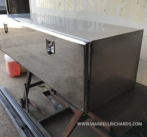 W1500XD500XH500 Matt Stainless, Mirrored lid truck tool box