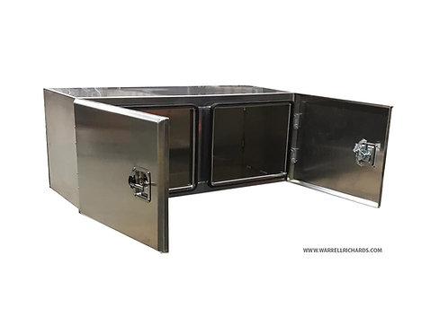 W1200XD500XH500 Low Loader Aluminium Truck Toolbox Double Door Trailer Toolbox