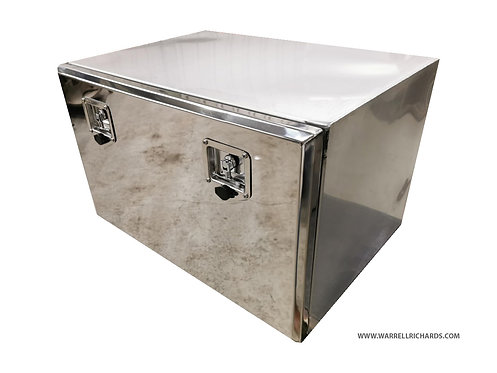W1000xD400xH400 Matt Stainless, Mirrored lid truck tool box