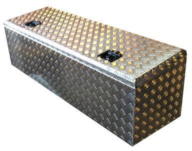 W1500xD450xH400/460 Aluminium chequer tool box, Catwalk box, Scania