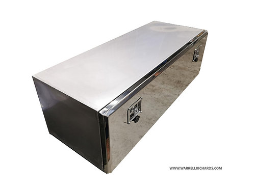 W1200XD300XH300 Stainless, Mirrored lid tool box, Ford transit tipper