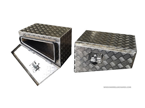 W500XD400XH350/150 Aluminium chequer tool box, Truck box, 4x4 expedition pickup