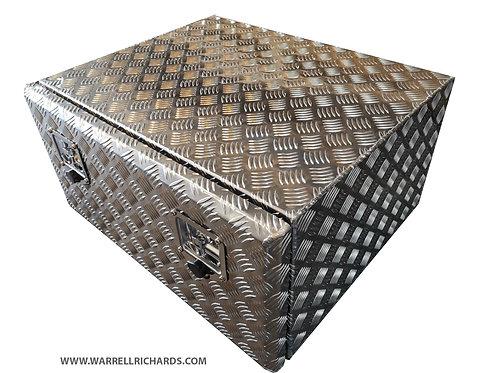 W700XD600XH350 Aluminium chequer storage locker, Mercedes Atego 1023 4x4