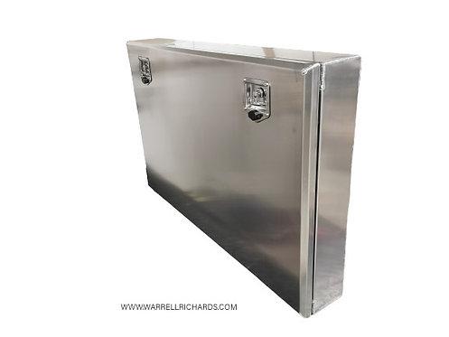W1200XD200XH800 Stainless teardrop camper trailer toolbox, trailer side locker