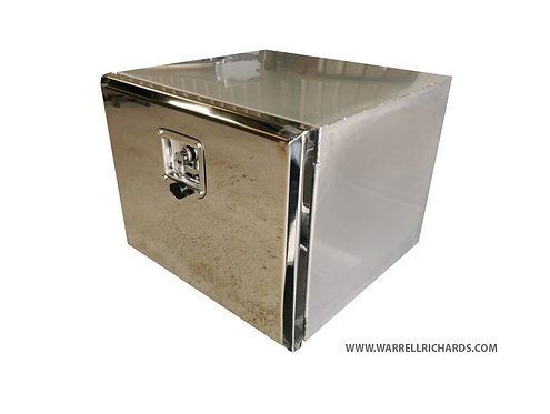 W800XD500XH500 Matt Stainless, Mirrored lid truck toolbox, under seat in-cab PPE