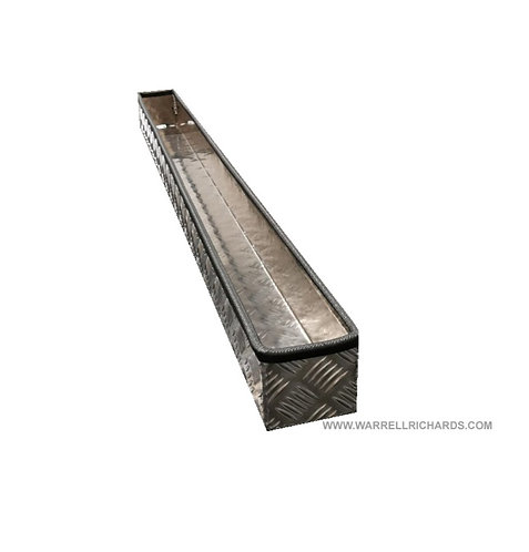 W1300xD100xH100 Height measuring stick tray, Aluminium chequerplate truck tray