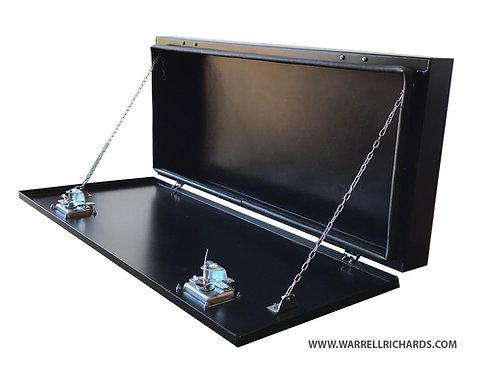 W1060xD120xH480 Aluminium Landrover side pod truck toolbox, Side storage