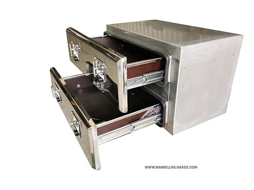 W800XD500XH500 Stainless Truck toolbox with 100% extension roll out draws