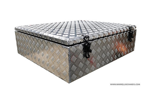 W900XD800XH300 Aluminium chequer tool box, Roof rack box, 4x4, Landrover