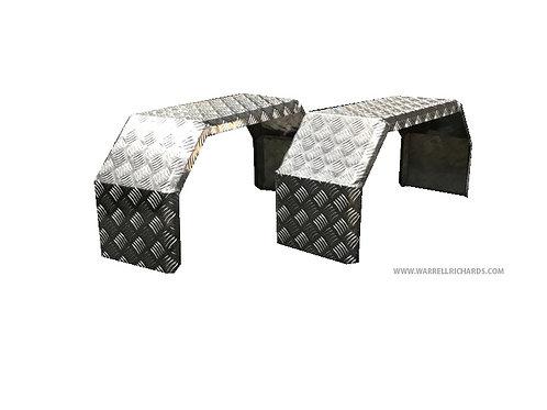 W790XD250X350 X2 Aluminium chequer truck mudguards / Wings