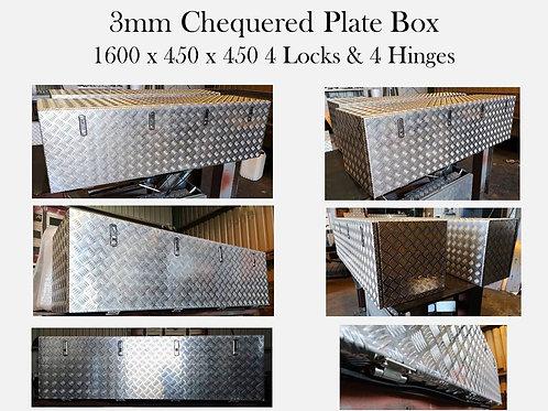 Aluminium chequered plate box