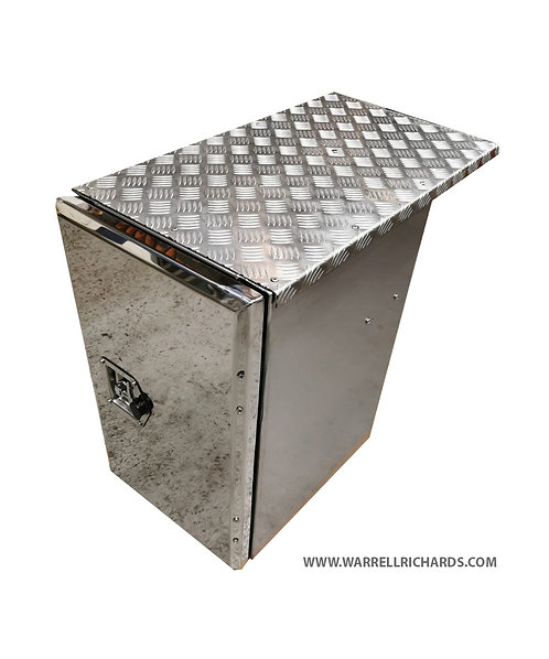 W395XD500XH500 Matt Stainless, Mirrored lid truck tool box,DAF XF CF side locker