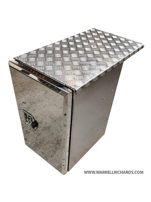 W395XD500XH500 Stainless, Mirrored lid truck tool box, DAF XF CF side locker