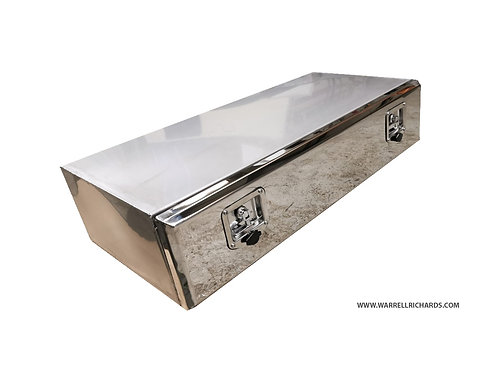 W1200XD500XH250 Stainless, Mirrored lid truck tool box, Low loader trailer