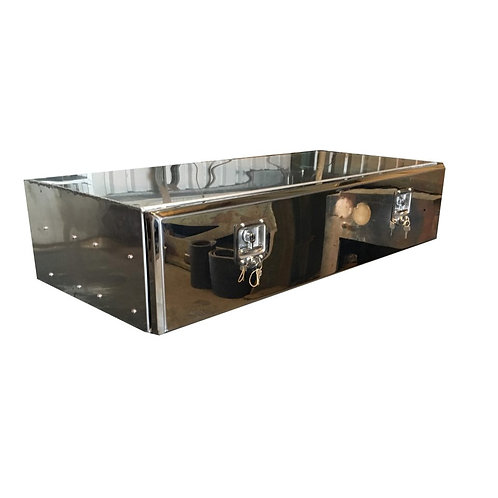 W800XD500XH250 Stainless Truck Toolbox, Low Loader, Side Locker, Back Box