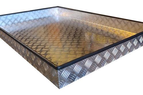 Large Chequer Plate Aluminium Trays, Truck Storage
