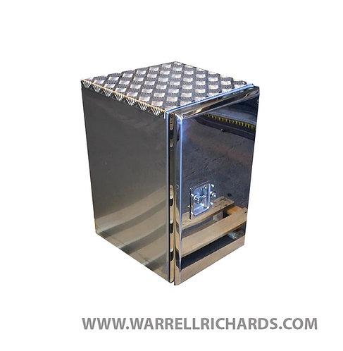 W395XD500XH650 Matt Stainless, Mirrored lid truck tool box, Volvo FH, DAF XF CF