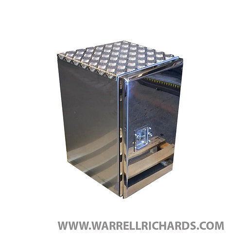 W395XD500XH650 Stainless, Mirrored lid truck tool box, Volvo FH, DAF XF CF